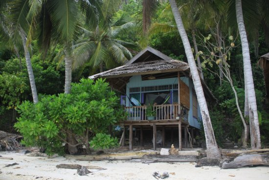 Togian Islands, Indonesien: Our cottage which was so well built and thought through!