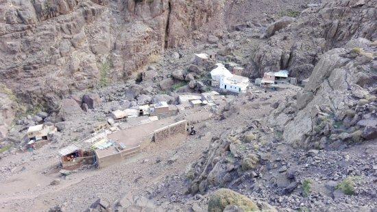 Imlil, Marokko: poblado subiendo Toubkal