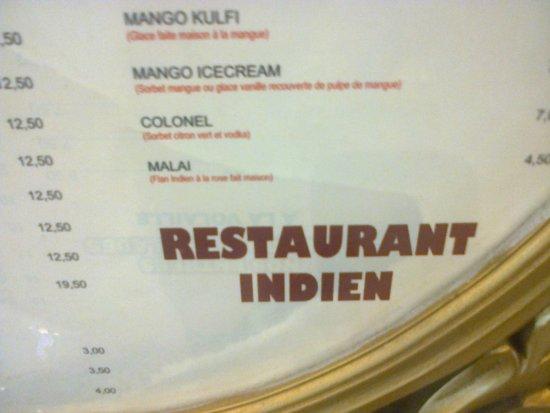 Creteil, Frankrike: Restaurant Lal Qila.