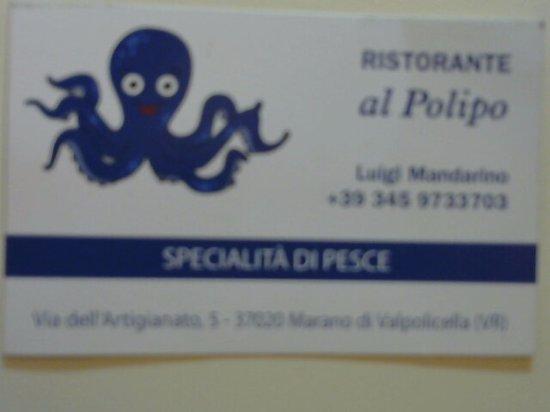 Marano di Valpolicella, Italy: Il titolare era cuoco al ristornate Punta Grò di Sirmione