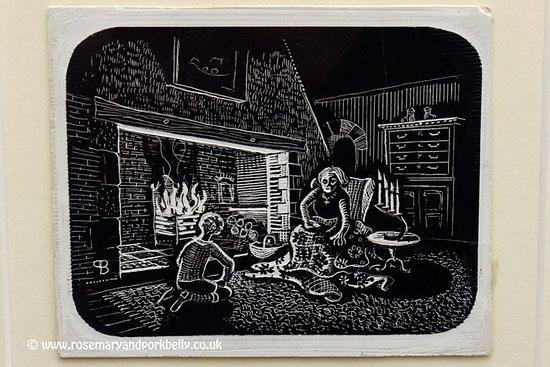 The Manor at Hemingford Grey: Original illustration for LM Boston's books, on display