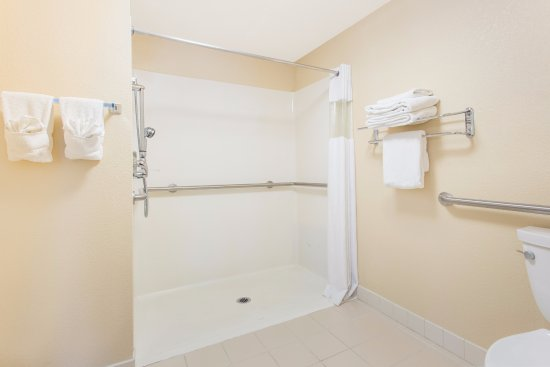 Plymouth, Висконсин: Roll-in Shower in Handicap Accessible Room with a Single King bed