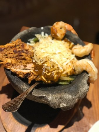 Mago Grill & Cantina -- Roosevelt Collection: Fajita Bowl with Chicken and Shrimp! My go to!!