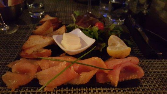 Cafe Del Mare : saumon fumé