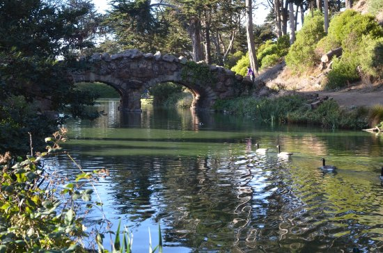 Stow Lake : Bridge to Strawberry Hill