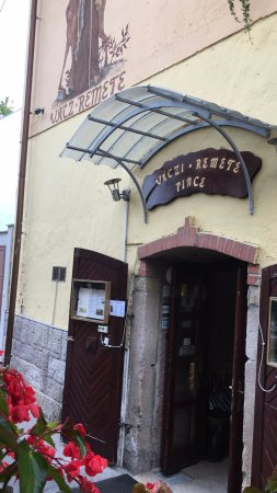 Vac, Hungary: Entrance (But they have a great terrace outside also!).