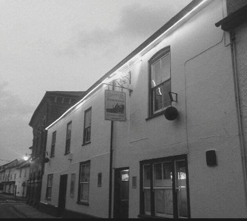 Presteigne, UK: The Farmers Inn, an early evening photo taken on a crisp winter night