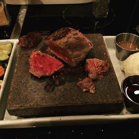 ROK bistro: Buffalo steak on hot volcanic rock