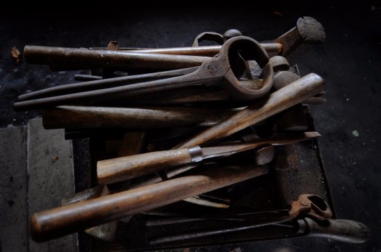 Brodick, UK: The forge