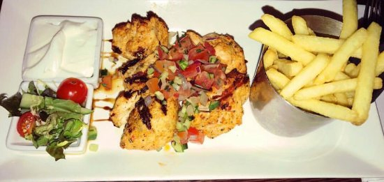 Bexleyheath, UK: Souvlaki - chicken