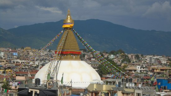 Hotel Tibet International: Norbulinka Stupa View Terrace-view