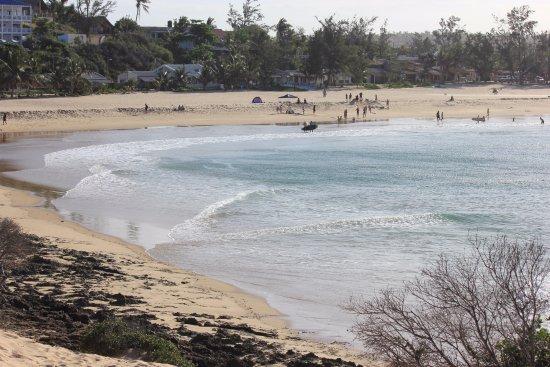 Tofo, Mozambique: Vista da praia de cima