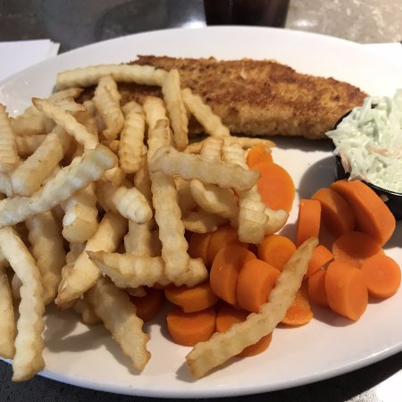 New Minas, Канада: Pan Fried Haddock with fries, carrots and coleslaw
