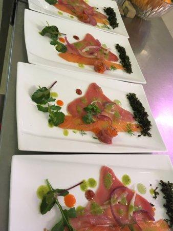 Casteil, France: thon/saumon ecossais cured