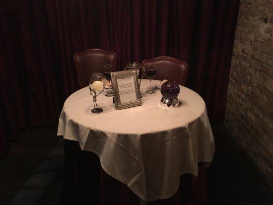 Muriel's Jackson Square: Mesa do fantasma.