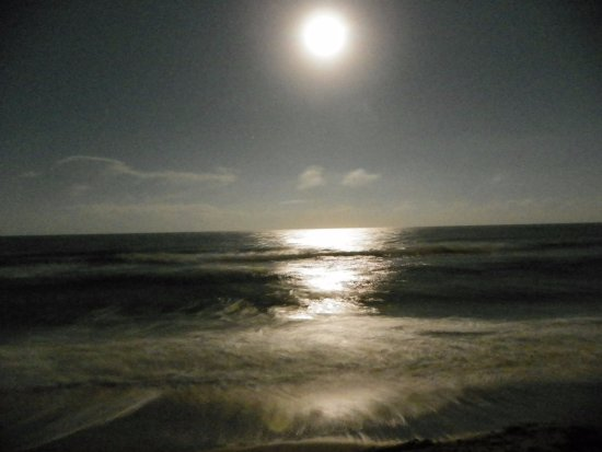 Satellite Beach, FL: Full Moon viewed from the Patio