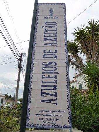 Azeitao, Portugal: Sign for tile factor