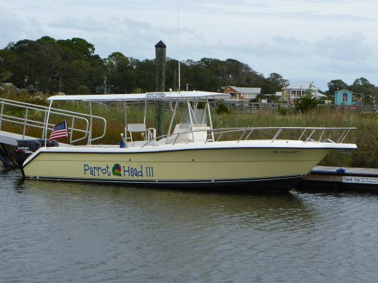 Southport, Carolina del Norte: Parrot Head II ready to take you and your family and friends on a memorable cruise.
