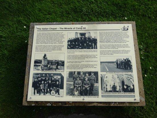 St. Mary's, UK: Part of the history of The Italian Chapel