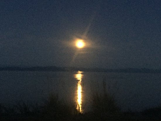 Comox, Kanada: And when the moon rises the day comes to an end - spectacular as always!