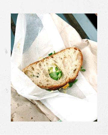 Orford, UK: Egg sarnie...yum!