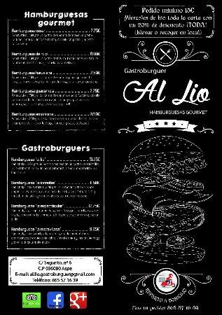 Aspe, สเปน: Al Lío Gastroburguer
