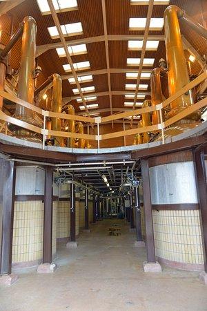 Glenmorangie Distillery: La salle des alambics