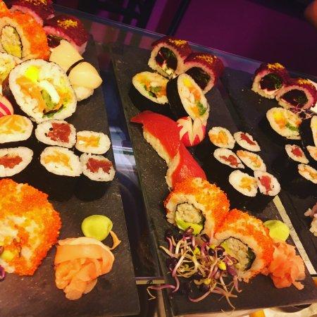 Selestat, France: fuchsia sushi