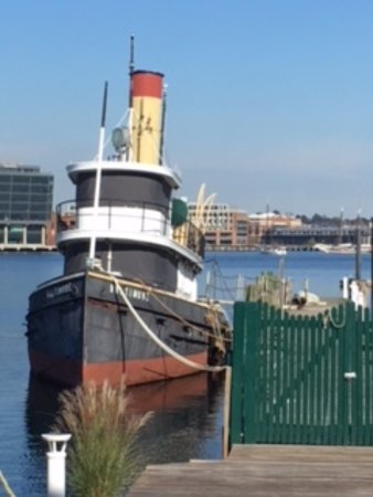 Baltimore Museum of Industry : Looking out from the museum to the harbour