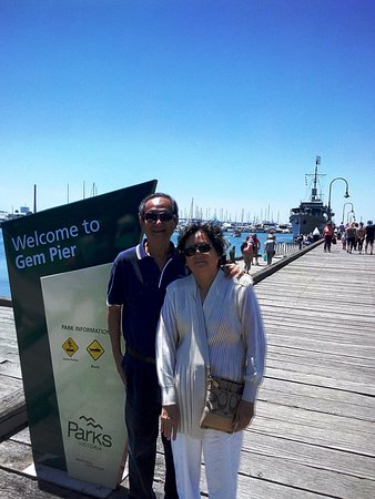 Williamstown, Australia: We are at Gem Pier.