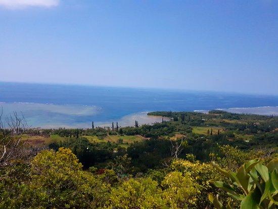 Grande Terre, Nueva Caledonia: Littoral de Yaté depuis la tribu de Touaourou