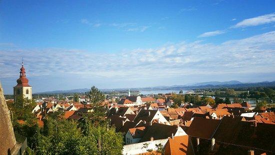 Ptuj, Slovenia: Panorama dal castello