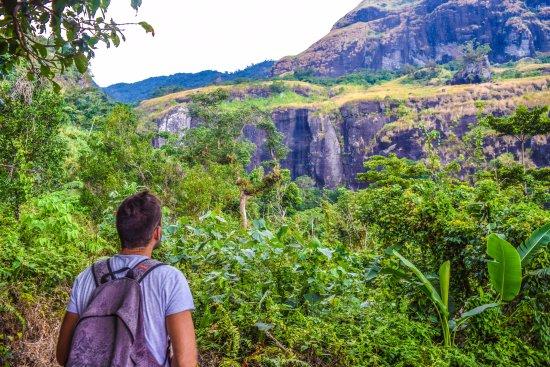 Koroyanitu National Heritage Park: Looking at part of the mt batilamu rock formation