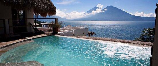 Santa Catarina Palopo, Guatemala: View from the pool.