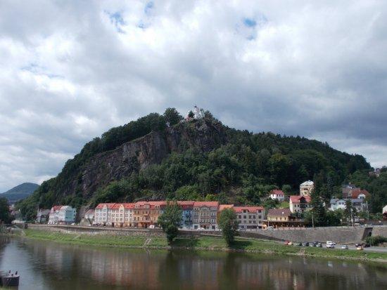 Decin, Czech Republic: Pastyrska stena from the bottom