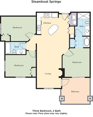 Wyndham Vacation Resorts Steamboat Springs: Steamboat Springs Floor Plan