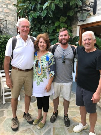 Hotel Mistral: Our family with Hotel Mistra's owner, Thel