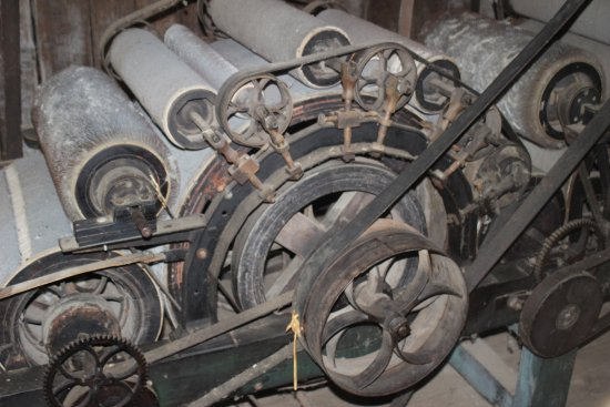 Petersburg, IL: Carding Machinery in Mill