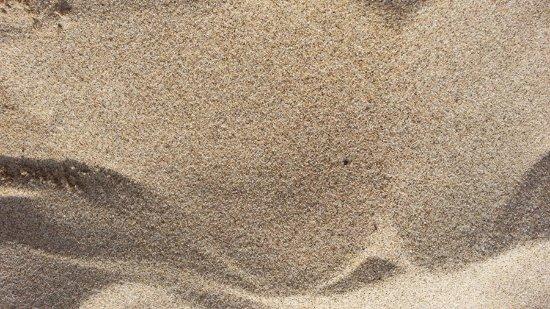 Kyotango, Japón: 石英をたっぷり含んだ細かい砂。ある程度乾燥してないと鳴きません。