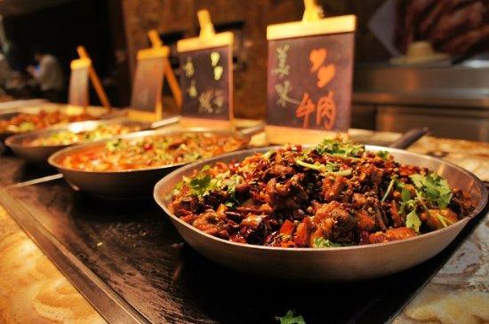 Jinzhou, Cina: 自助菜品