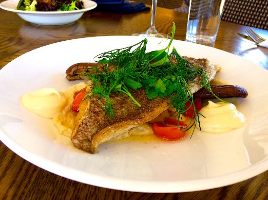 Yering, Australia: Snapper on hummus
