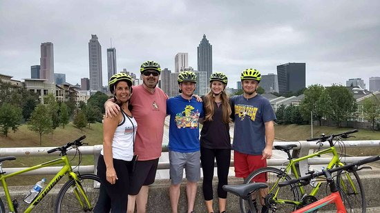 Bicycle Tours of Atlanta Iconic skyline from Jackson Street Bridge. We made great family & Walt introducing us to our first \