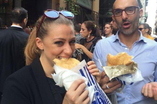 Comida de rua de Nápoles passeio a pé...