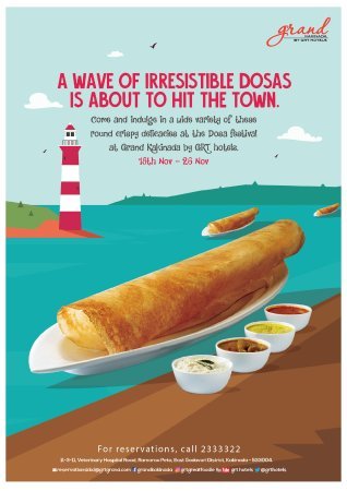 Enjoy delicious Dosas from 18th to 26th November 2017