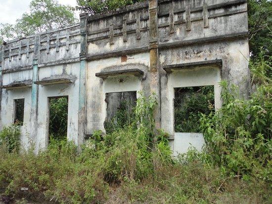 verlassene Häuser in der Geisterstadt Armero