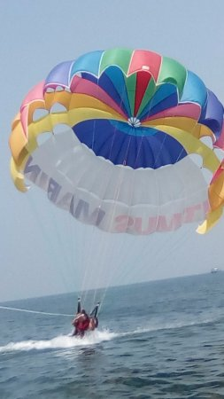 Parasailing at sinquerim beach