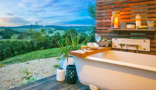 Bangalow, Australia: Out door private bathroom