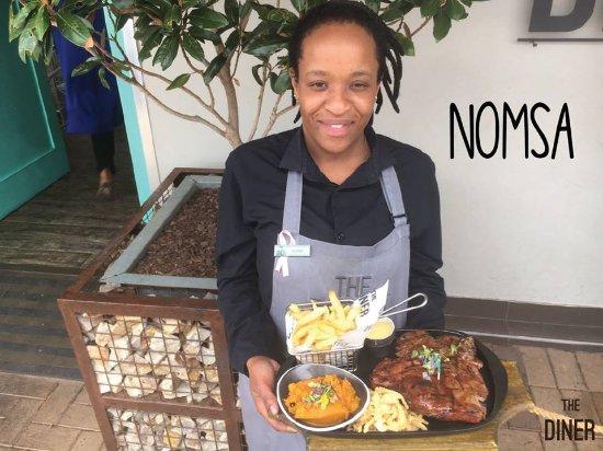 "Krugersdorp, Republika Południowej Afryki: Meet Nomsa. Her favourite dish on the menu is the T-Bone.""I like that it's 2 steaks in 1."