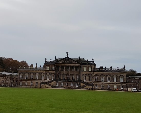 Wentworth Woodhouse Preservation Trust: The Palladian East Front of the House, viewed from the entrance road.