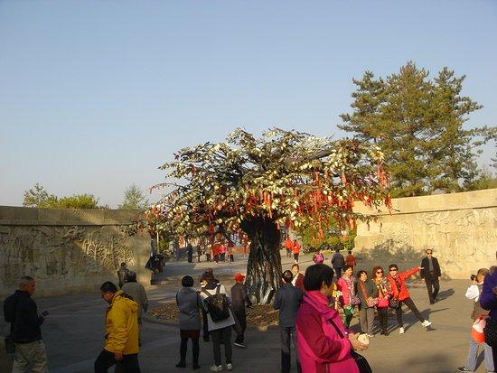 Datong, China: Modern art prays tree